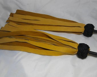 Brown Suede Double Finger Flogger