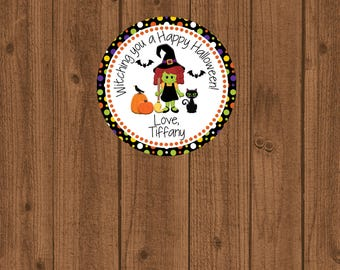 Halloween Favor Tag, Halloween Birthday Favor Tag, Halloween Tag, Witch Favor Tag