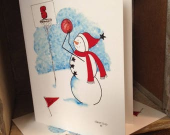 NC State Basketball Snowman Note Cards