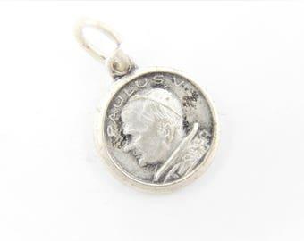 Vintage Anno Santo 1975 Pope Paul VI Catholic Medal - Catholic Jewelry - Religious Charm - 042