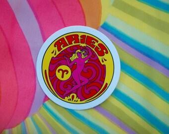Aries Sticker... 3 Inch Thick Vinyl Sticker... Zodiac Sticker