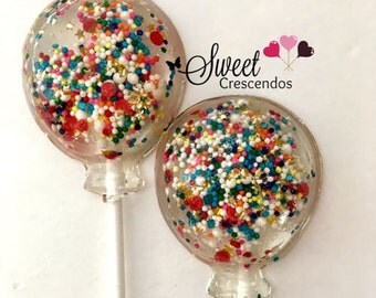 Confetti Balloon Lollipops- Birthday Lollpops- Kids Party Favors