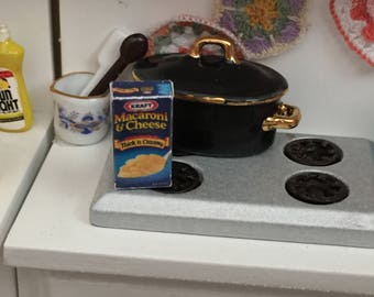 Miniature Macaroni Box, Mini Food Box, Dollhouse Miniature, 1:12 Scale, Dollhouse Food, Accessory, Mini Food, Crafts, Decor