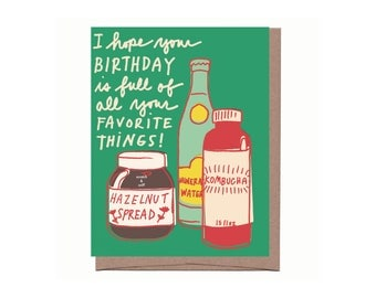Scratch & Sniff Favorite Things Birthday Card