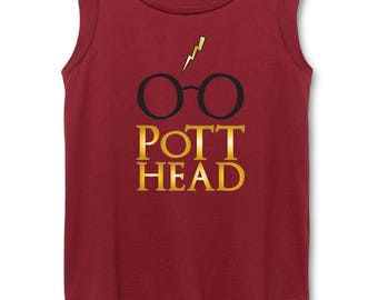 Harry Potter Women's Cap Sleeve Top, The Original Pott Head Design, The Perfect Gift for the Harry Potter Fan in your life