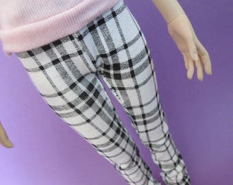 Black and White Plaid Pants for MSD SD Ball Jointed Doll