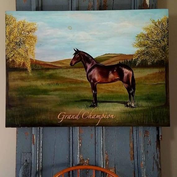 Grand Champion an original acrylic painting on repurposed wood