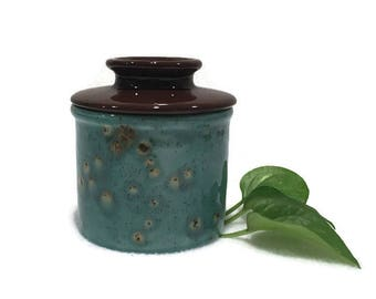 Butter Crock - Blue and Brown - Kitchen Accessory