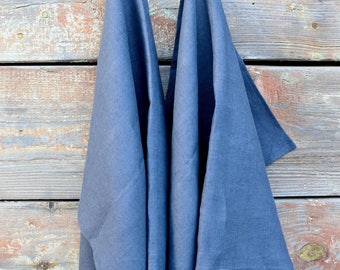 Linen dish towels set of  /  linen tea towels  / gray kitchen towel / gray linen towel / set of linen towels / washed linen towel