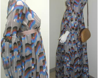 Jean Varon 70s vintage Psychedelic dress