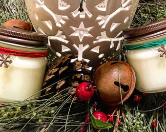 8oz. Soy Candle In Glass Mason Jar With Rustic Lid
