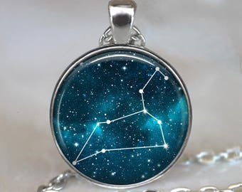 Leo Constellation necklace, Leo pendant constellation necklace , Leo jewelry Constellation jewelry Leo birthday gift Zodiac key chain