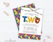 Very Hungry Caterpillar Birthday Invitation - DIY Party Printable  / Second Birthday / Hungry Caterpillar /