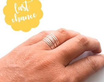 Thin Silver Wrap Around Ring - Wraparound Ring, Silver Wrap Ring, Wrapped Silver Ring, Delicate Silver Ring, Stacking Rings, Minimalist Ring