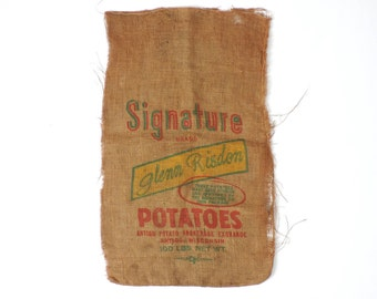 Burlap Potato Sack Vintage