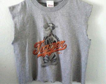 Tigger TShirt / Crop Top / Half Tee / Muscle Tee / Sporty Shirt / Indie / Grunge / Rocker Tee / Classic Cartoon