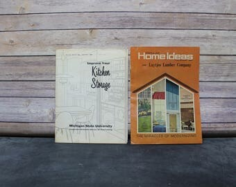 1960's Home Magazines - 1962 Improve Your Kitchen Storage Magazine and 1964 Popular Home Ideas, The Miracles of Modernizing