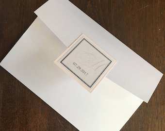 Traditional Wedding Invitation Pocketfold - Customize with Your Wedding Color