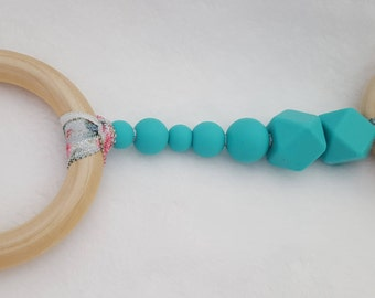Silicone/Natural Wood Teething Toy