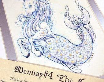 The Capricorn- Mermay 2017 Limited Run Double Matted Giclee Print with Story Scroll