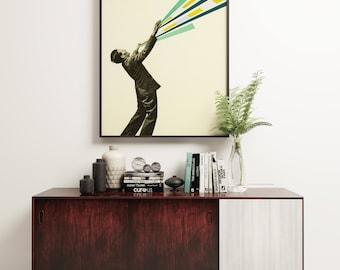 Pop Art Poster, Modern Geometric Art Print, Gift for Man - The Power of Magic