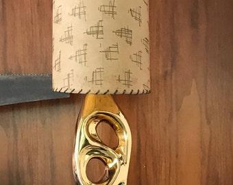 Vintage 50s Biomorphic Freeform Lamp Fiberglass Shade Retro Mid Century Modern Atomic Era Fifties