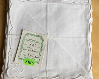 "All Pure Linen Napkins - Set of 6 - 13"" X 13"" - New in Package"