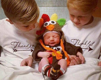 Turkey Hat, Baby Turkey Hat, Fall Turkey Hat, Crochet Turkey Hat, Turkey Hat Photo Prop , Animal Hat, Thanksgiving Turkey Hat, Cbbcreations