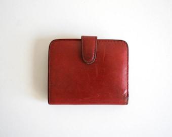 Red Kiss Lock Coach Wallet