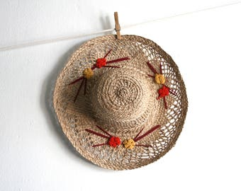 Woven Embroidered Hat