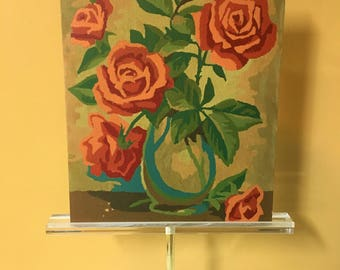 Paint by Number Roses Vintage