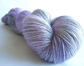 Luxury Owl - Lilac Mist hand dyed Blue Faced Leicester/Silk/Cashmere fingering/4ply/sock yarn