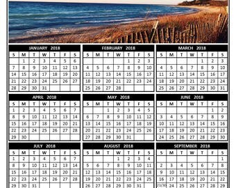 2018 annual calendar Lake Michigan