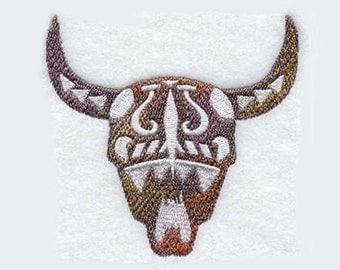 Buffalo Skull Tea Towel | Embroidered Kitchen Towel | Personalized Kitchen Towel | Embroidered Towel | Custom Hand Towel | Dish Towel