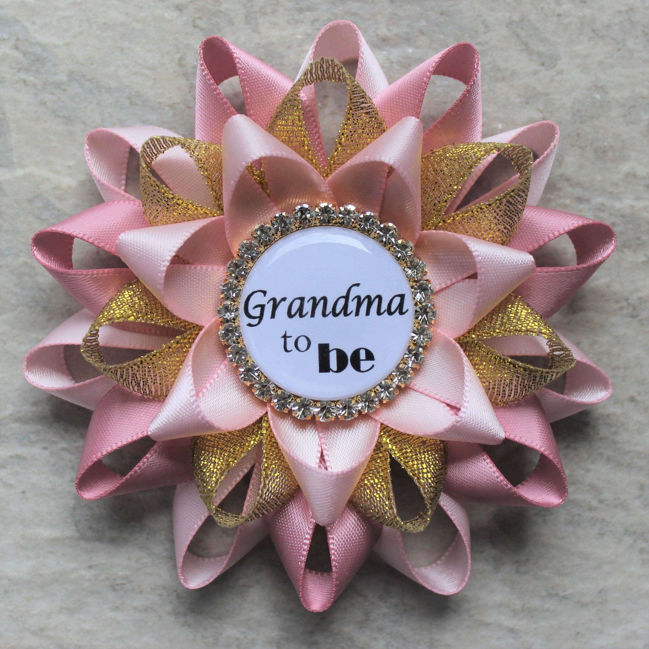 Pink and Gold Baby Shower Decorations New Grandma Gift Grandma