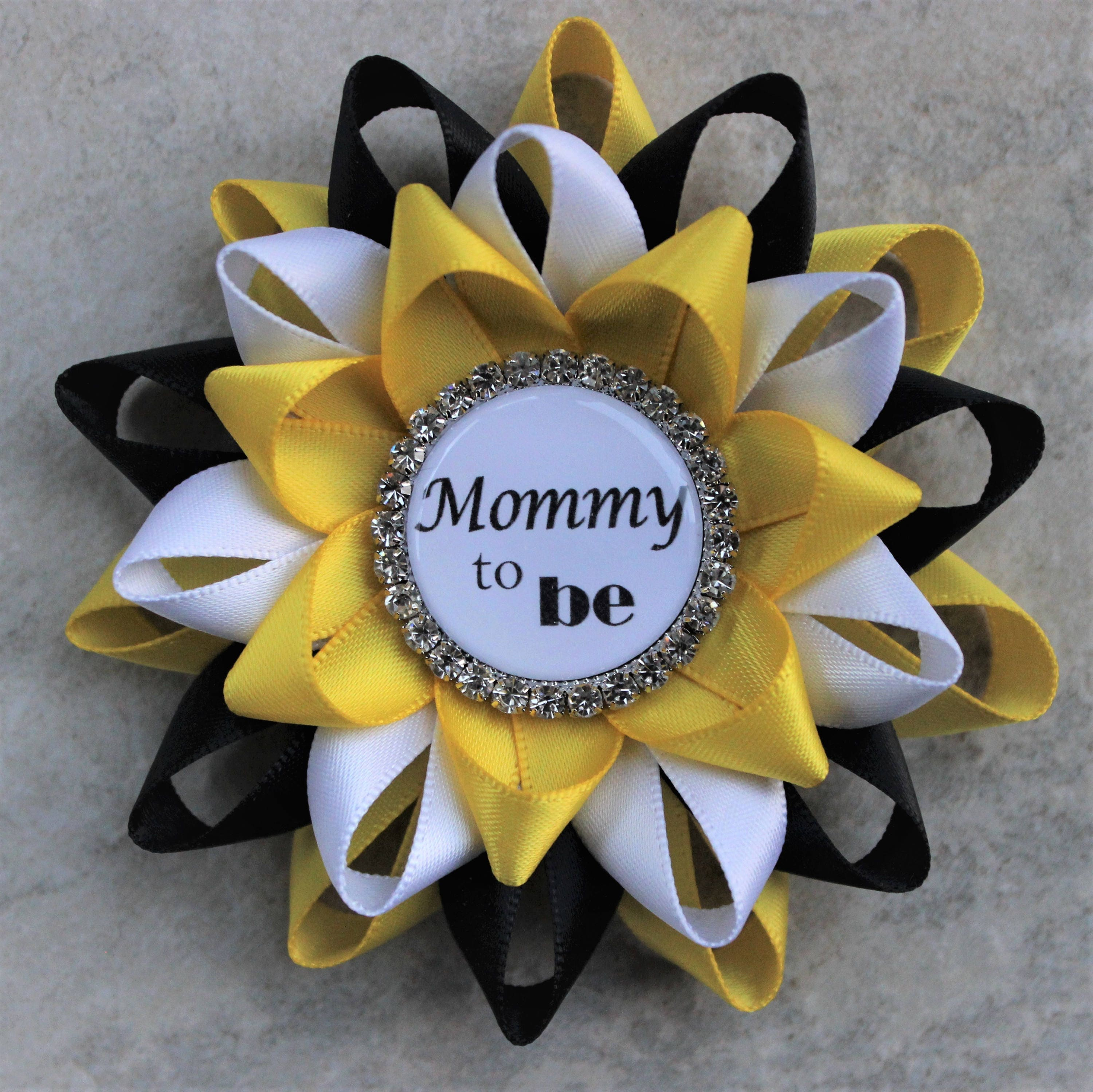 Bee Baby Shower Decorations Black And Yellow Corsages Bumble Themed Mommy To Be White