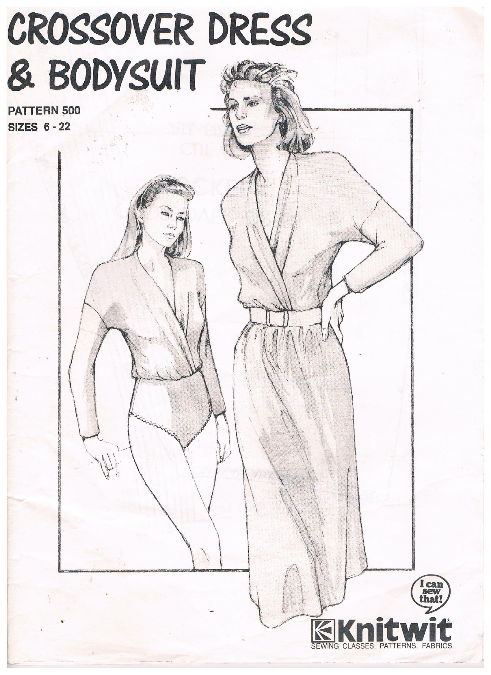 Crossover dress bodysuit sizes 6 to 22 by knitwit pattern no crossover dress bodysuit sizes 6 to 22 by knitwit pattern no 500 bankloansurffo Images
