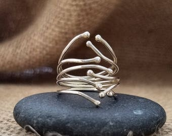 StErLiNg SiLvEr RiNg...StAcKiNg RiNg...ArTiSaN Silver RiNg...ScULpTuRaL JeWeLrY