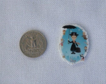 Acrylic Mary Poppins Flat Back Disney Inspired Bow Center Magnet Badge Reel Accessories
