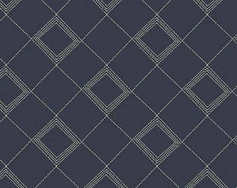INDIE FOLK Art Gallery Fabrics, Tartan Midnight, Pat Bravo, Boho, Quilt Fabric, Cotton Fabric, Quilting, Geometric, Plaid, By the Yard