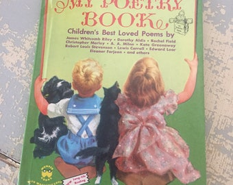 VINTAGE My Poetry Book - A Romper Room Book - Children's Best Loved Poems-1954