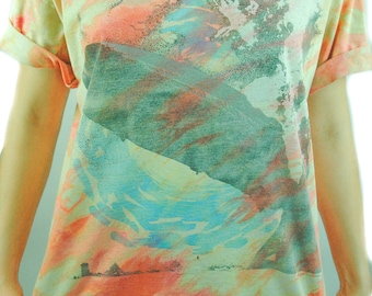 Vintage Led Zeppelin shirt 1990 Vintage Tye Dye Concert shirt Band Tee XL