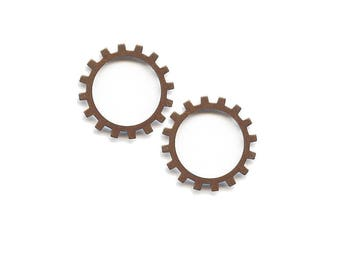 Vintage Medium Open Gear, 19mm , Qty 2