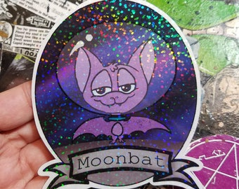 Vinyl Sticker - Moon Bat