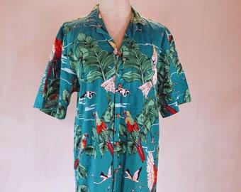 Tropical Bird Paradise Hawaiian Shirt Top