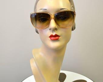 1980s Oversize Brown Plastic Sunglasses