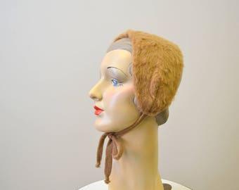 1940s Fuzzy Knit Earmuff Headband