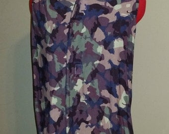 Adult Clothing Protector, Shirt Saver, Dining Scarf - Plum mauve green CAMO, camouflage