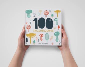 Art Book 100 Mushroom Illustrations