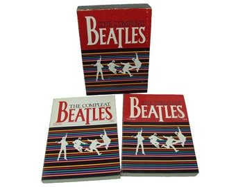 Compleat Beatles Two-Volume Boxed Set 1981 First Printing Many Stories and Pictures Every Song put to Sheet Music, Guitar, Piano and Vocal
